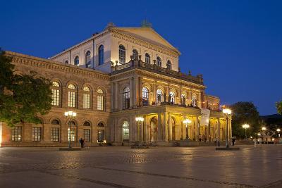 Germany, Lower Saxony, Hannover, Landestheater, Evening-Chris Seba-Photographic Print