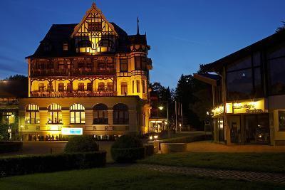 Germany, Lower Saxony, Harz, Bad Sachsa, Best Western Hotel, Evening-Chris Seba-Photographic Print