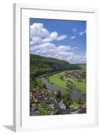 Germany, Lower Saxony, Weser Excursion Ship-Chris Seba-Framed Photographic Print