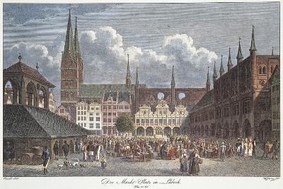 Germany, Lubeck, Marktplatz--Giclee Print