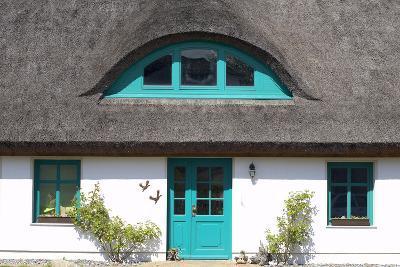 Germany, Mecklenburg-Western Pomerania, Island R?gen, Thatched-Roof House, Entrance, Detail-Chris Seba-Photographic Print