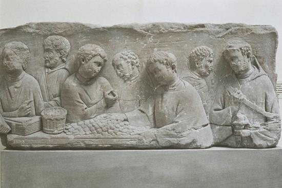 Germany, Neumagen-Dhron, Funerary Stele Depicting a Scene of Tax Payment--Giclee Print