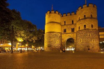 Germany, North Rhine-Westphalia, Cologne, Hahnentor, Evening-Chris Seba-Photographic Print