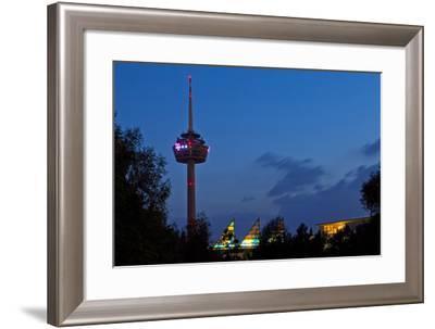Germany, North Rhine-Westphalia, Cologne, Television Tower, Evening-Chris Seba-Framed Photographic Print