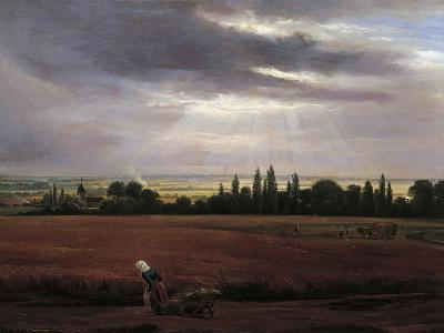 Germany, Painting of Countryside Near Dresden--Giclee Print
