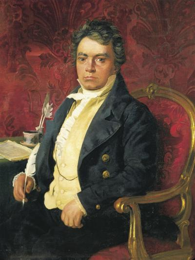 Germany, Portrait of German Composer and Pianist Ludwig Van Beethoven--Giclee Print