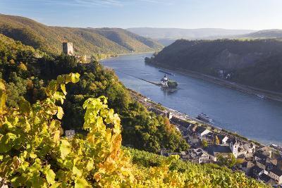 Germany, Rheinland-Pfalz, Pfalzgrafenstein and Gutenfels Castles-Peter Adams-Photographic Print