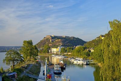 Germany, Rhineland-Palatinate, Koblenz, Ehrenbreitstein Fortress, Harbour-Chris Seba-Photographic Print