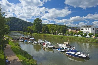 Germany, Rhineland-Palatinate, Middle Rhine Valley, Lahnstein, Harbour-Chris Seba-Photographic Print
