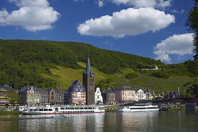Germany, Rhineland-Palatinate, Moselle Valley, Bernkastel-Kues, the Moselle, Tourboats-Chris Seba-Photographic Print