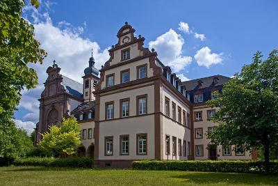 Germany, Rhineland-Palatinate, the Saar, the Moselle, Konz, Monastery of Karthaus-Chris Seba-Photographic Print