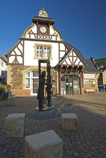 Germany, Rhineland-Palatinate, Traben-Trarbach, City Hall Traben-Chris Seba-Photographic Print