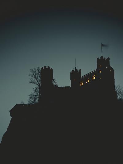 Germany, Rhineland-Palatinate, Trechtingshausen, Castle 'Rheinstein', Night-Thonig-Photographic Print