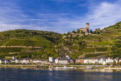 Germany, Rhineland-Palatinate, Upper Middle Rhine Valley, Kaub, Rhine Valley-Udo Siebig-Photographic Print