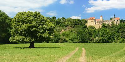 Germany, Saxony-Anhalt, Burgenlandkreis, Goseck, Castle Goseck in the Saale Valley-Andreas Vitting-Photographic Print