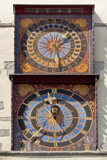 Germany, Saxony, G?rlitz, City Hall Clock of Scultetus-Catharina Lux-Photographic Print