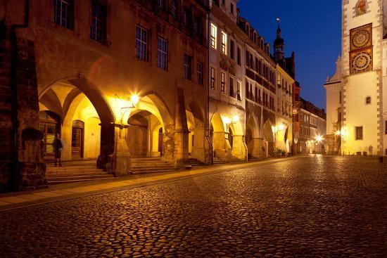 Germany, Saxony, G?rlitz, Untermarkt, Arcade Houses-Catharina Lux-Photographic Print