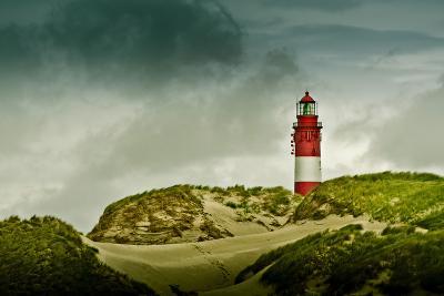 Germany, Schleswig-Holstein, Amrum, Dunes, Lighthouse-Ingo Boelter-Photographic Print
