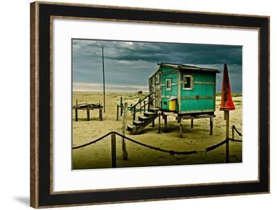 Germany, Schleswig-Holstein, Amrum, Sandy Beach, Sandbank, Kniepsand-Ingo Boelter-Framed Photographic Print