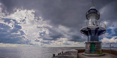 Germany, Schleswig - Holstein, Brunsb?ttel (Town), Lock, Lighthouse, Mole 1 (Jetty)-Ingo Boelter-Photographic Print