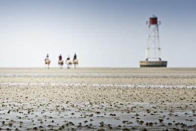 Germany, Schleswig-Holstein, Pellworm, Mud Flats, Rider-Ingo Boelter-Photographic Print