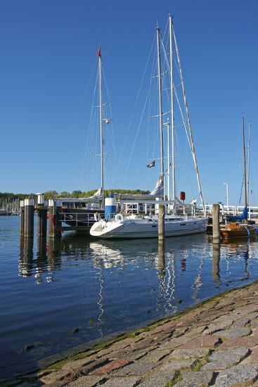 Germany, Schleswig-Holstein, TravemŸnde, Sailboats, Harbour-Chris Seba-Photographic Print