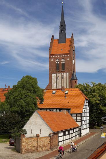 Germany, the Baltic Sea, Island Usedom, Usedom Town, St. Mary's Church-Chris Seba-Photographic Print