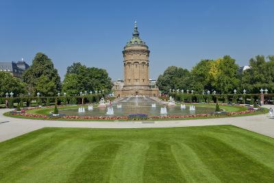 Germany, the Rhine, Baden-W?rttemberg, Mannheim, City Centre, Water Tower-Chris Seba-Photographic Print