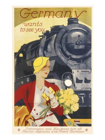 Germany Travel Poster--Giclee Print