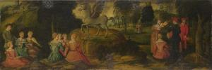 Pegasus and the Muses, C.1540 by Gerolamo Romanino