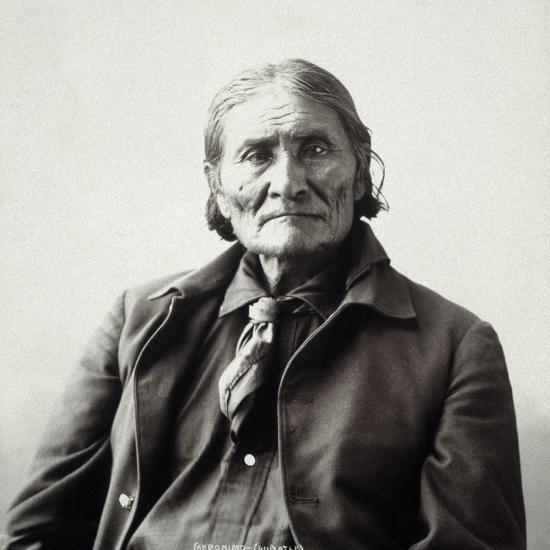 Geronimo (1829-1909)-Adolph F^ Muhr-Photographic Print