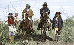 Geronimo and Natchez on Horseback during the Apache Wars, c.1886
