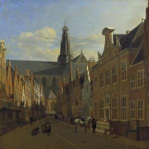 Street in Haarlem, C. 1680 by Gerrit Adriaensz Berckheyde