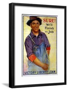"""Sure! We'll Finish the Job"", 1918 by Gerrit Albertus Beneker"