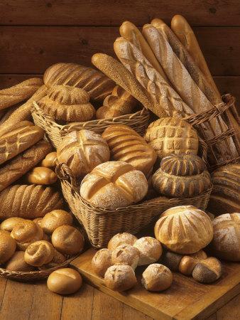 Still Life with White Bread, Bread Rolls & Bread Sticks