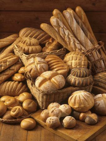 Still Life with White Bread, Bread Rolls & Bread Sticks by Gerrit Buntrock
