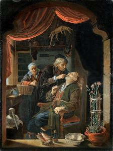 Dentist Examining the Tooth of an Old Man by Gerrit Dou
