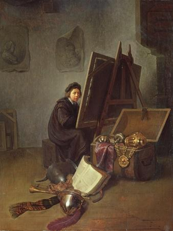 Portrait of the Artist at His Easel in His Studio