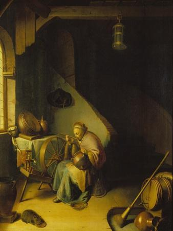 Rembrandt's Mother at the Spinning Wheel