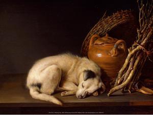 Sleeping Dog, 1650 by Gerrit Dou