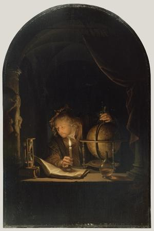 Astronomer by Candlelight, c.1650