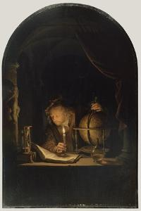 Astronomer by Candlelight, c.1650 by Gerrit or Gerard Dou