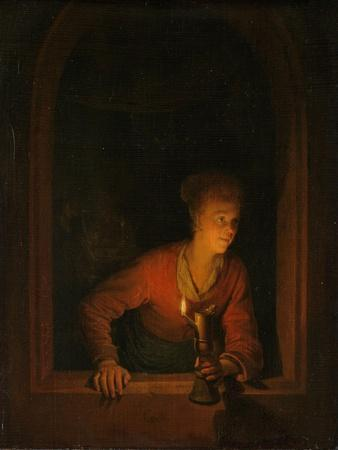 Girl with an Oil Lamp at a Window, 1645-75