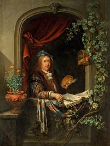 Self Portrait, c.1665 by Gerrit or Gerard Dou