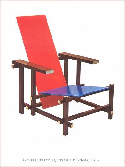 Gerrit Reitveld Red-Blue Chair--Art Print