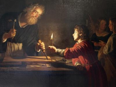 Childhood of Christ, C1620 by Gerrit van Honthorst