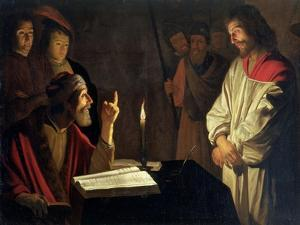 Christ Before Caiaphas by Gerrit van Honthorst