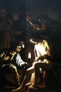 Christ Crowned with Thorns by Gerrit van Honthorst