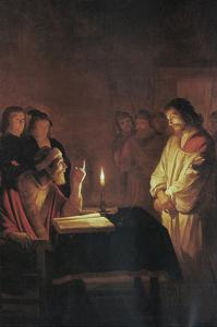 Christ in Front of the High Priest by Gerrit van Honthorst