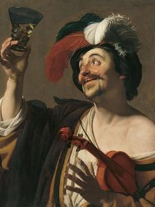 The Happy Violinist by Gerrit van Honthorst